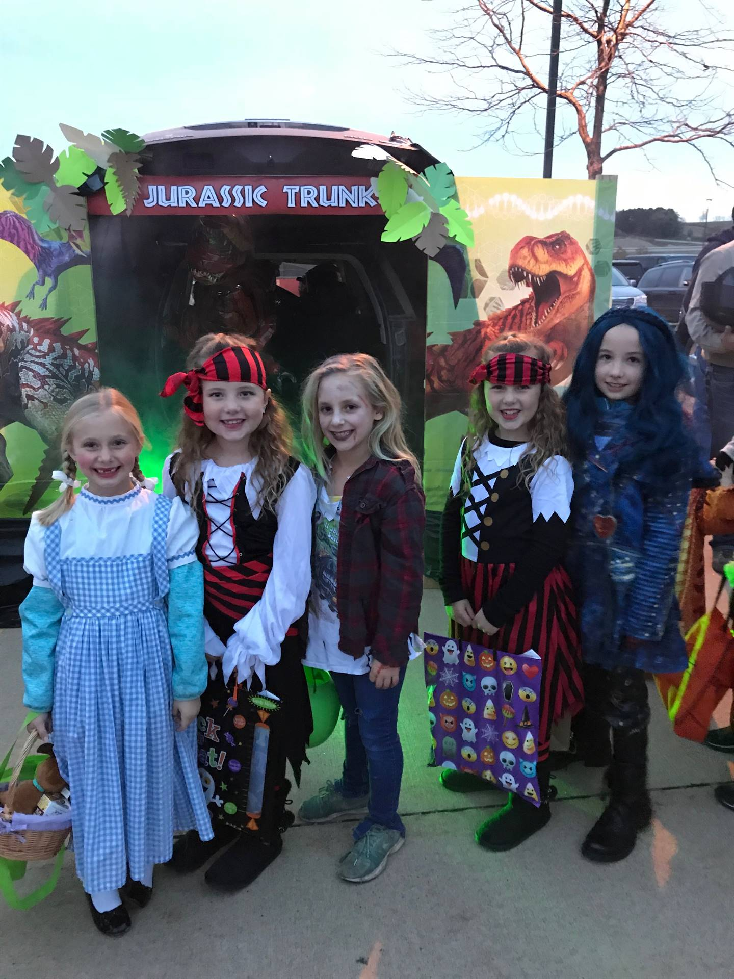 Elementary students at the annual Trick or Trunk event