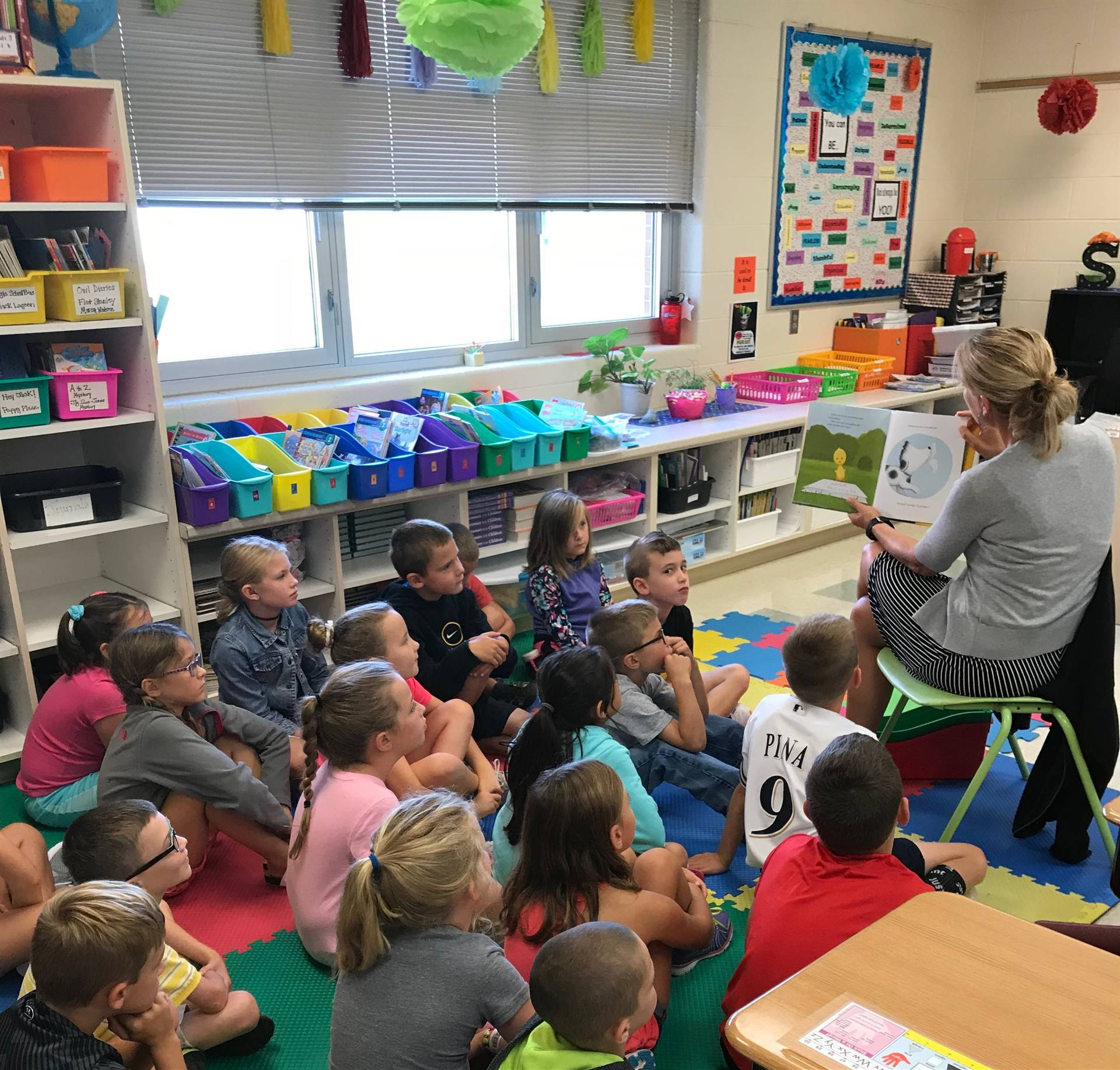 Elemenary Students during Read Aloud Activity