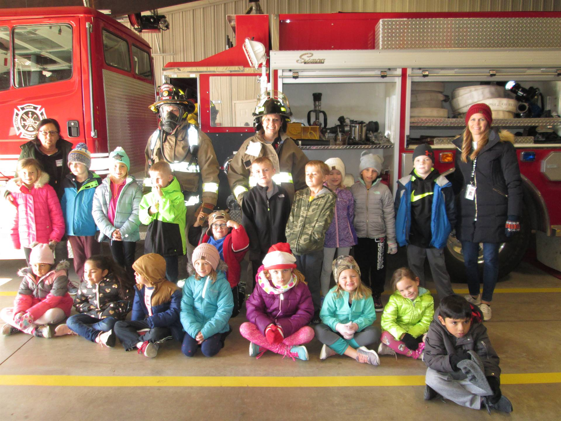 1st Grade group at Fire Station