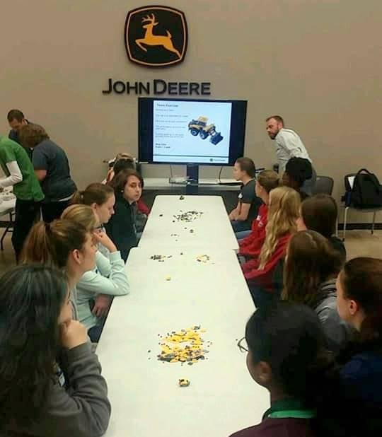 Students visit John Deere