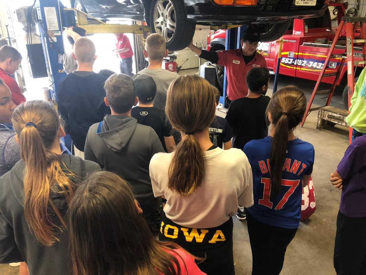Students visit Lyons Service Center