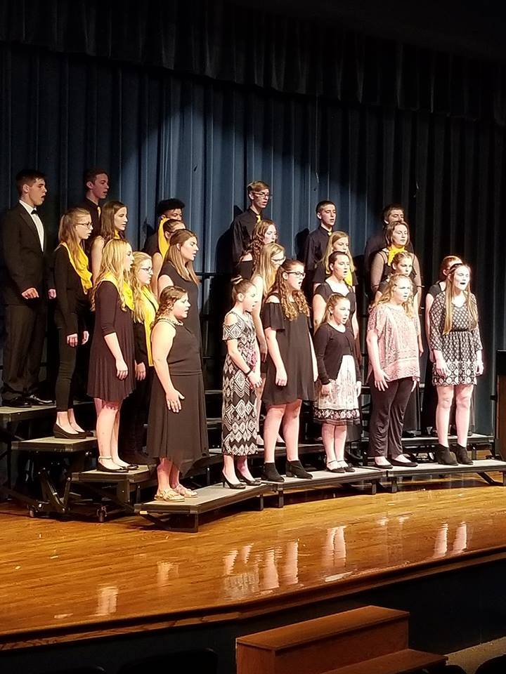 CHS Vocal Music students performing at concert