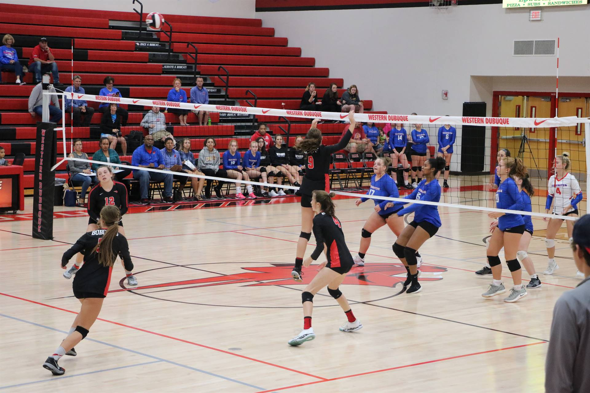 WDHS volleyball players compete