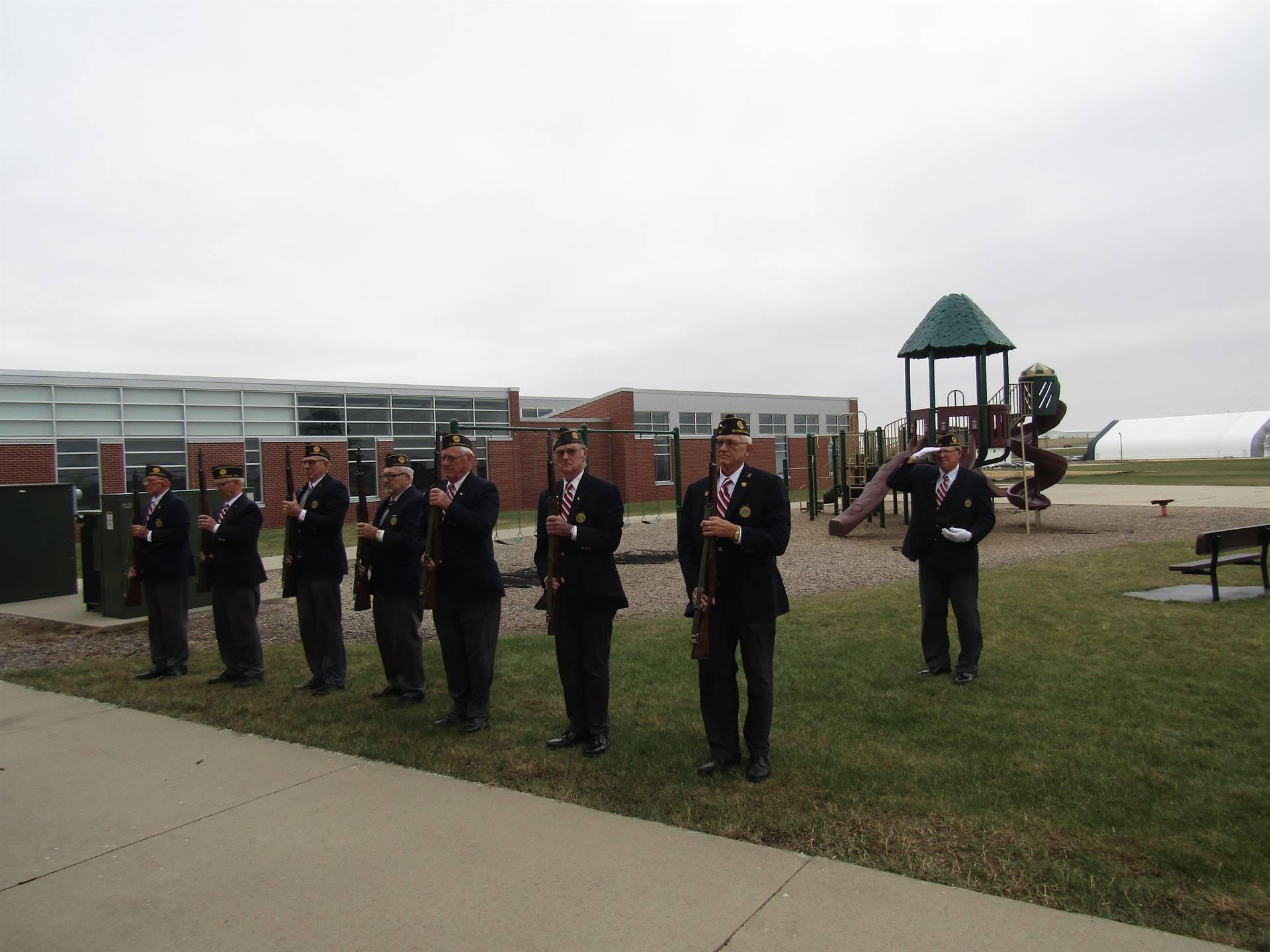 Veteran's 21 gun salute