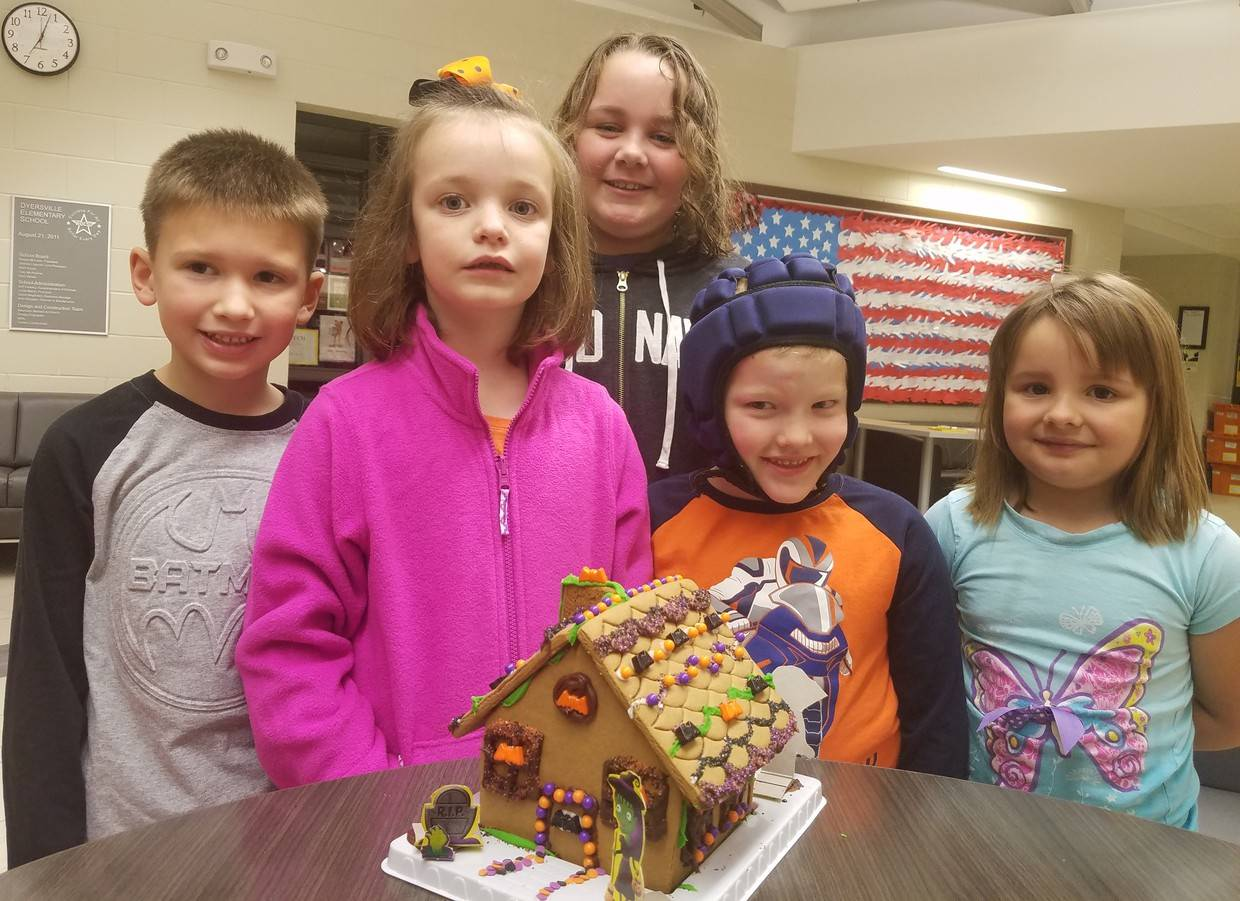 St Mark before school program haunted gingerbread house