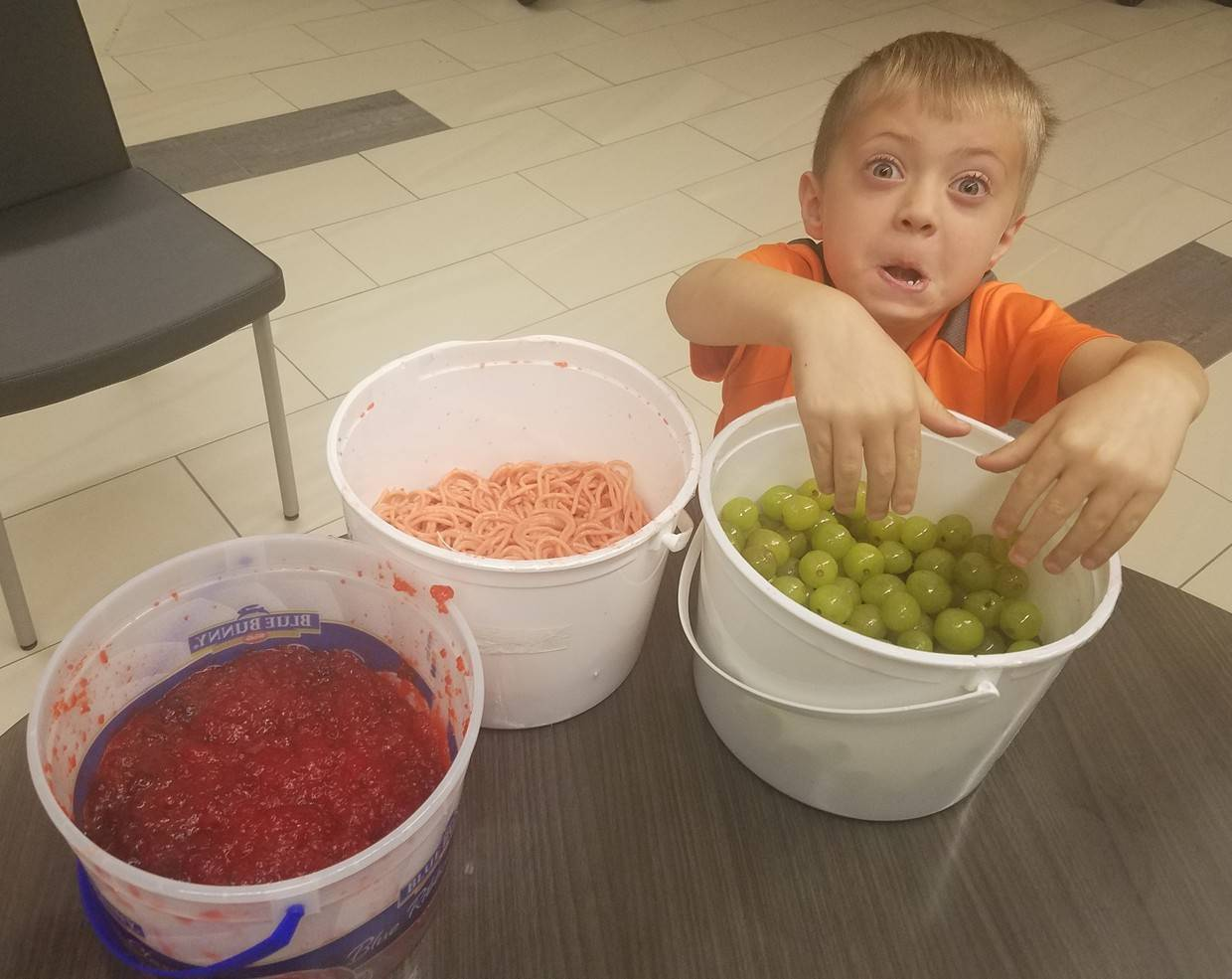 Fun with fake guts, worms and eyeballs at St Mark before school program