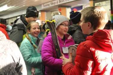 Middle School students attend ski night