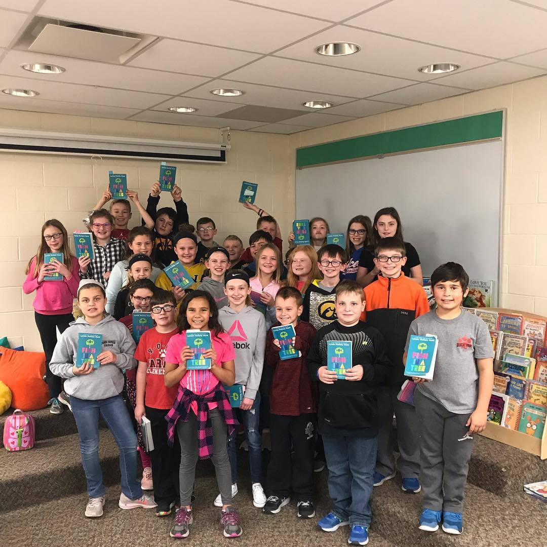 4th graders participate in a book study together