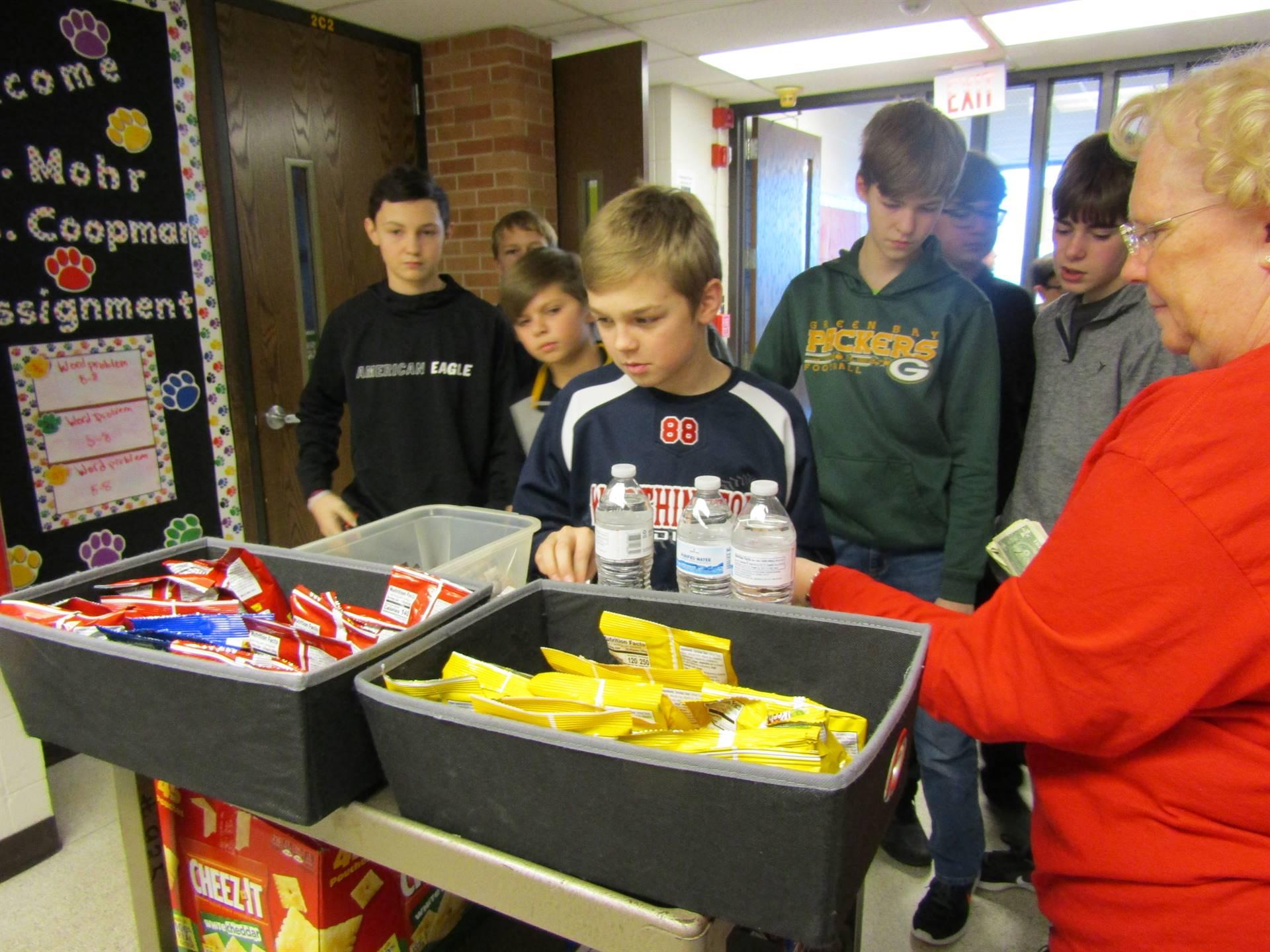7th graders participate in Incentive Day