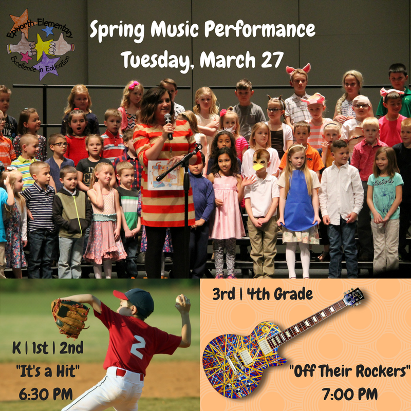 Spring Music program is scheduled for March 27
