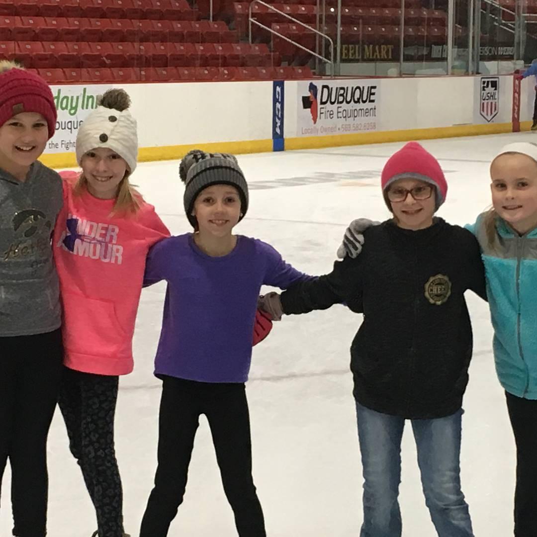 3rd graders ice skating