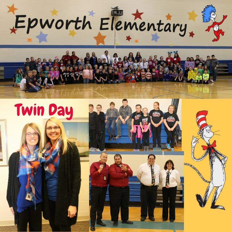 It was twin day at Epworth Elementary on Wednesday, February 28