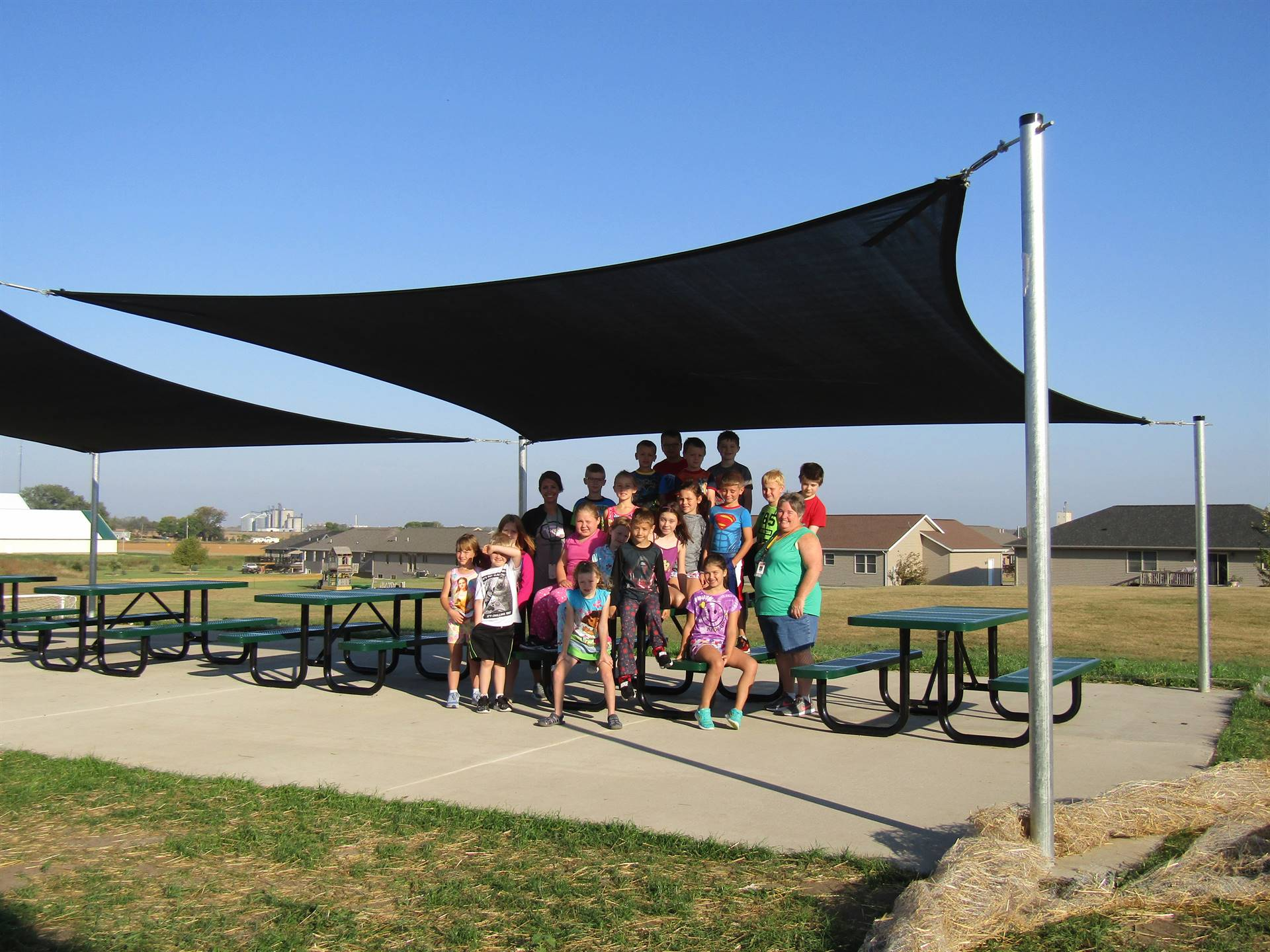 shade structure will help with heat at recess time