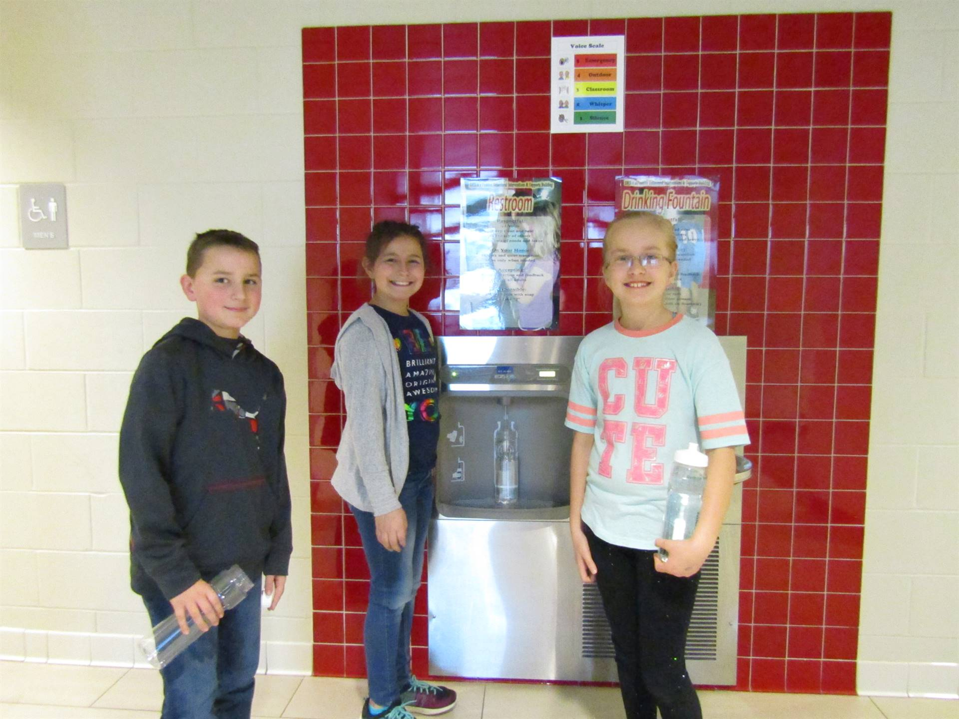 new water bottle filling station from the Rethink Your Drink program