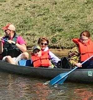 canoeing fun for middle schoolers