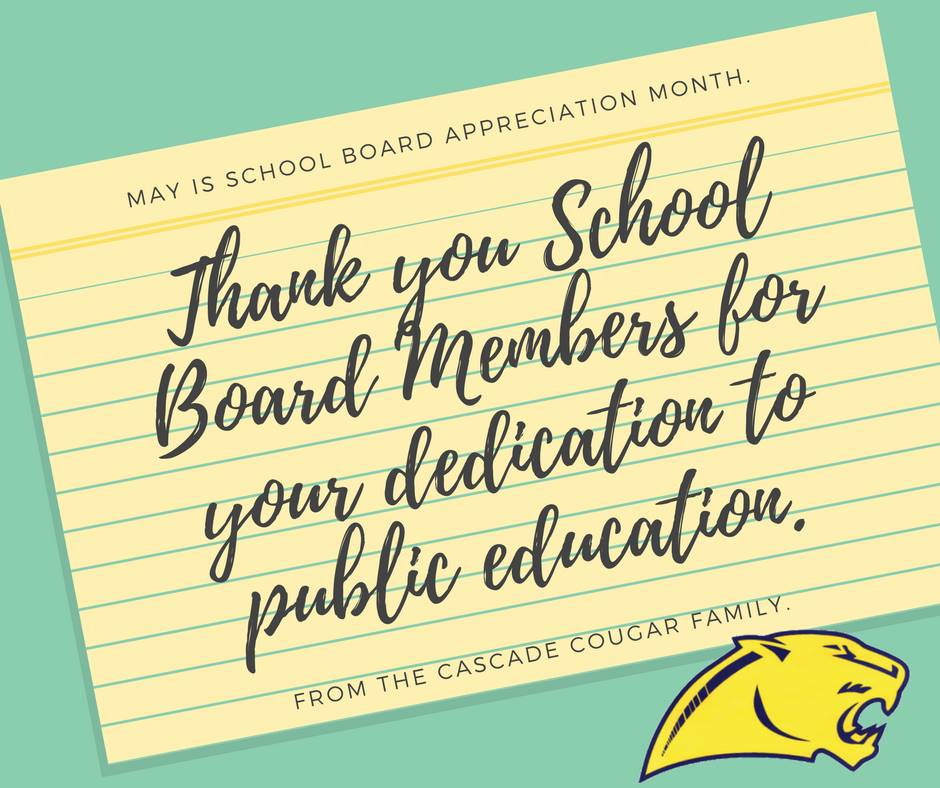 Thank you school board members