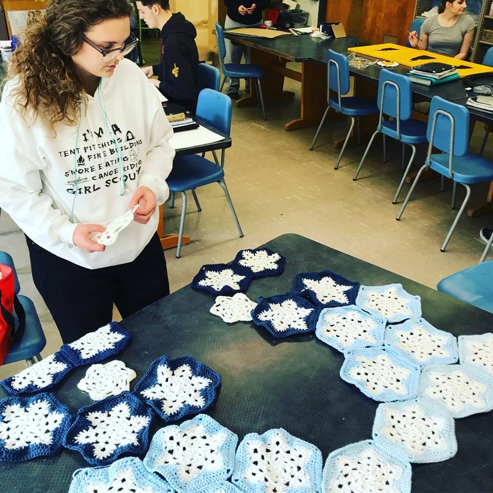 Advanced Art Student Surveys Crochet