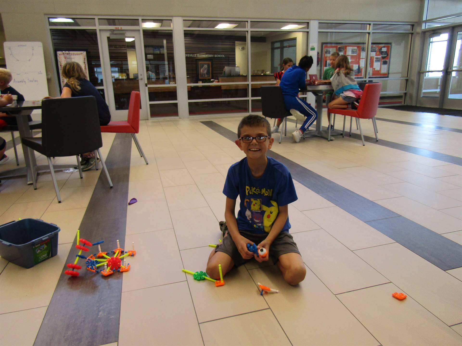 Constructing a project at indoor recess