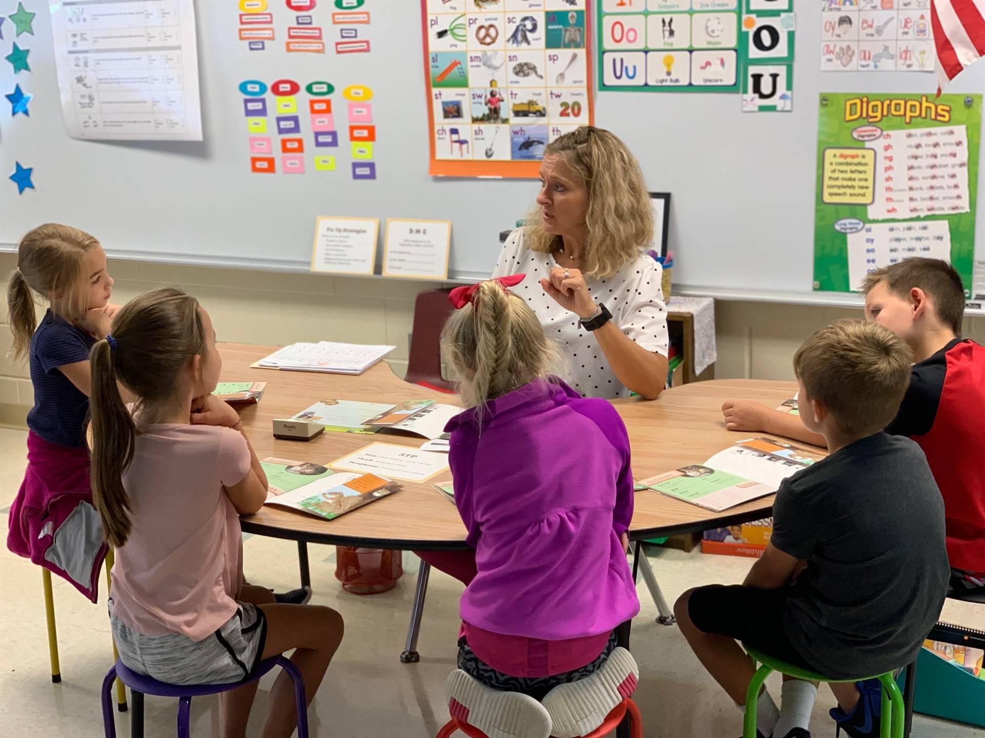 Elementary reading class