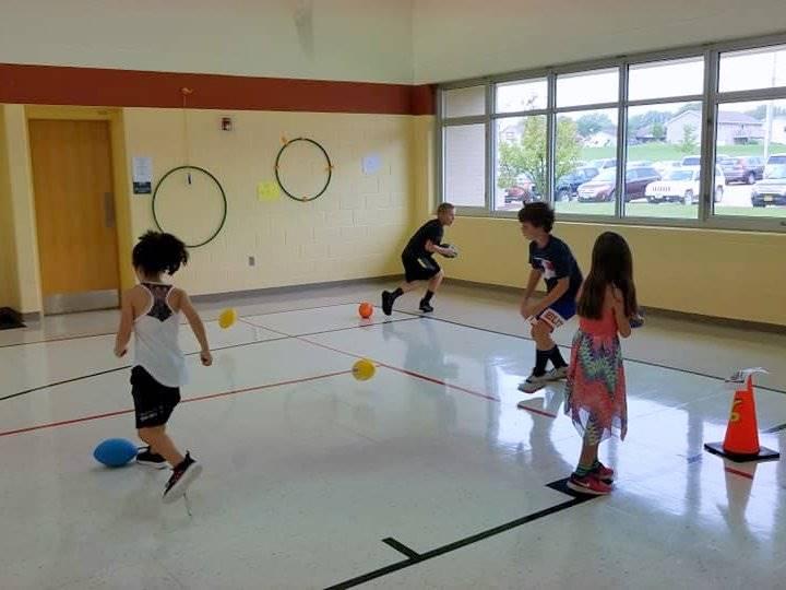 Elementary PE class