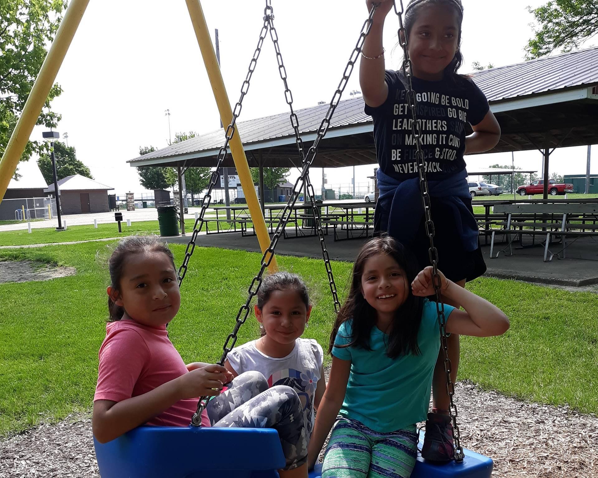 Students having fun on the playground