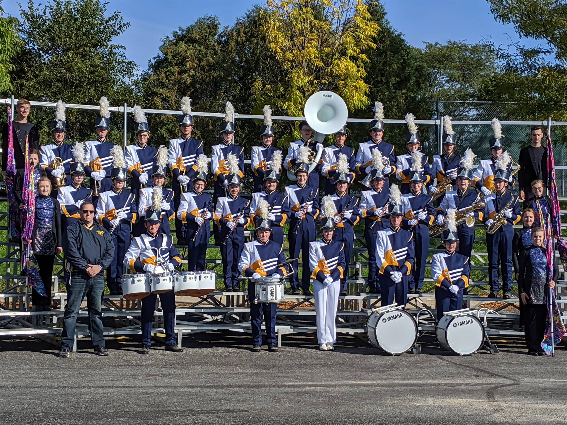 CHS marching band members