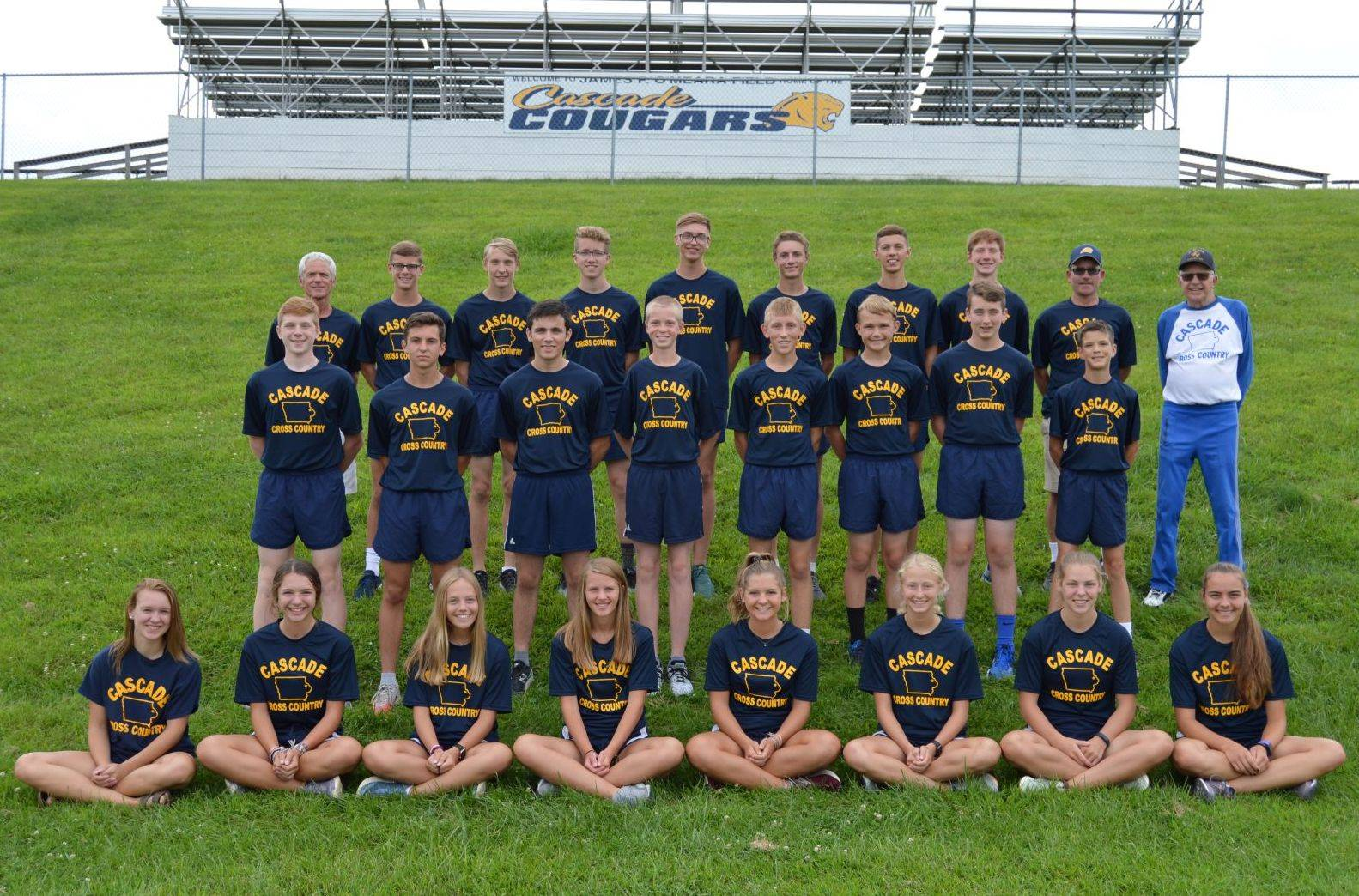 Cross country team members