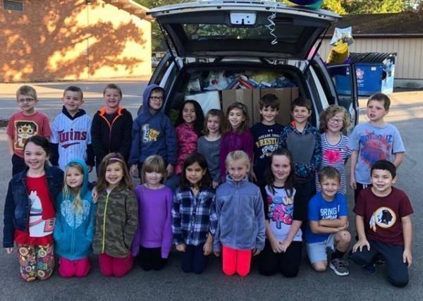 Elementary school food drive