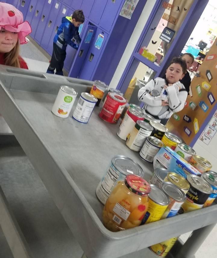 Elementary food drive