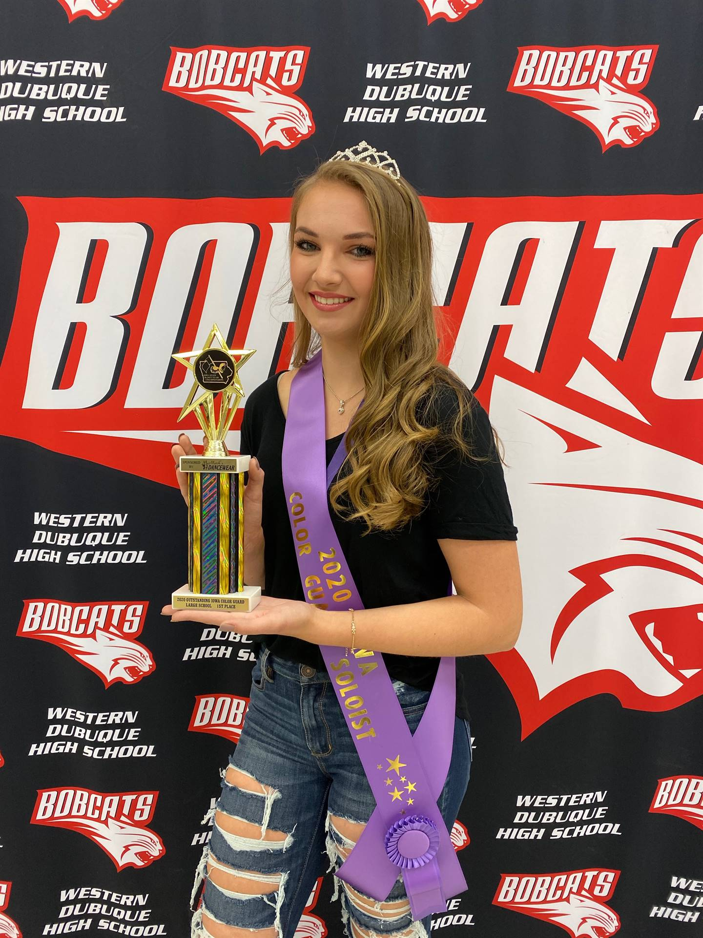 Hannah Stoner - State Color Guard Champion