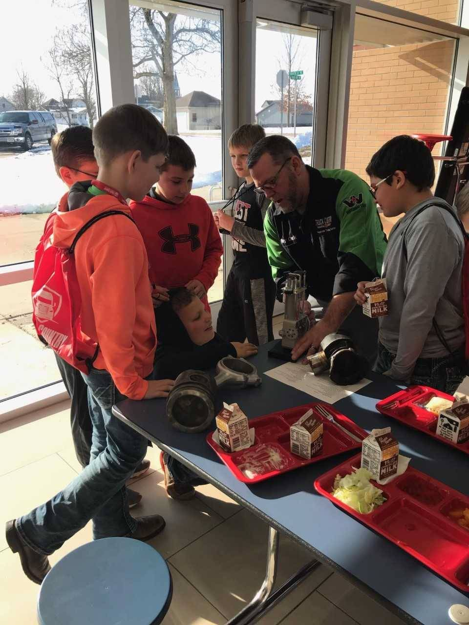 middle school students attend career cafe