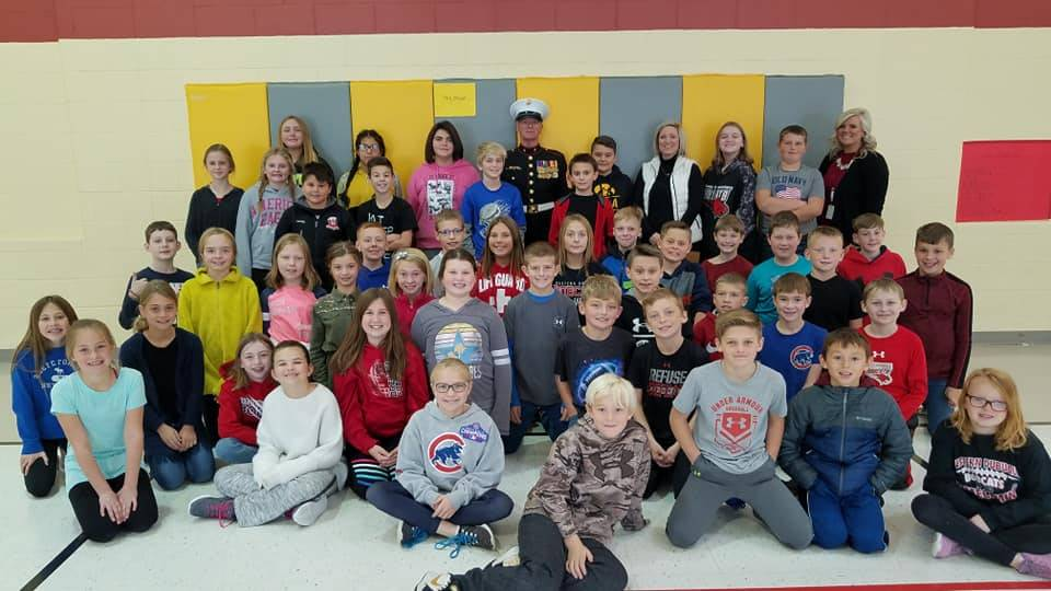5th Grade Students with Veteran