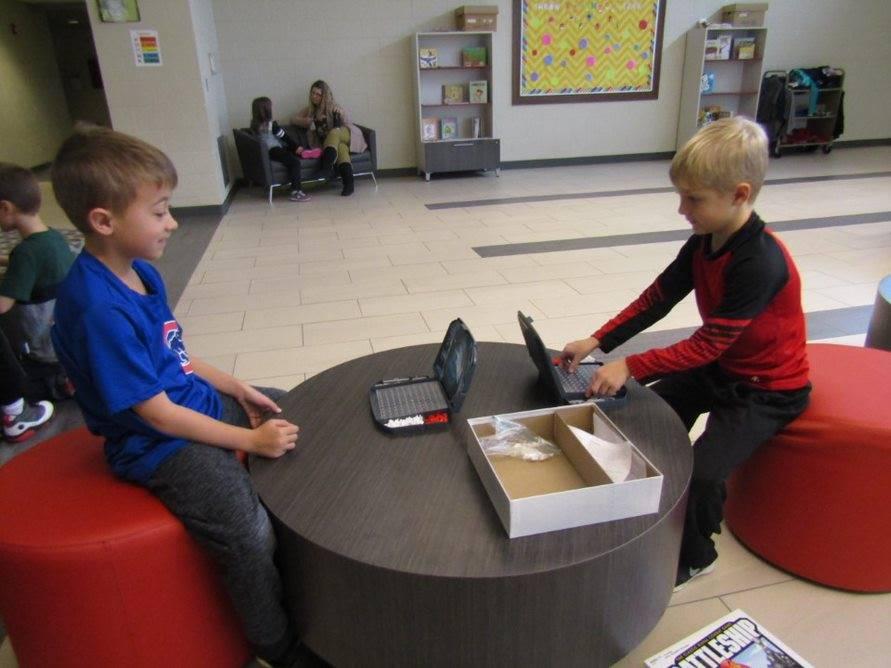 """A game of """"battleship"""" at indoor recess"""