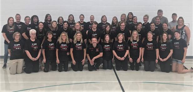 Staff with sparkle shirts