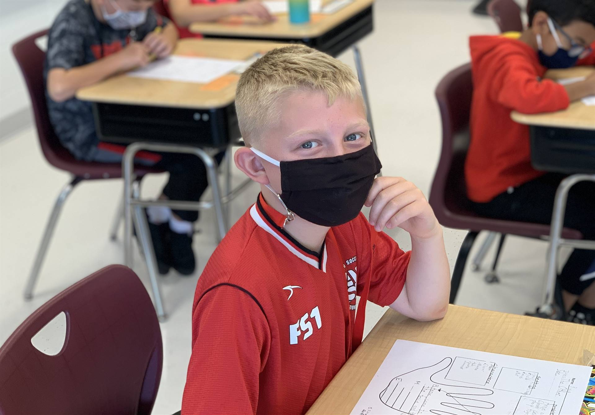 smiling 4th grader