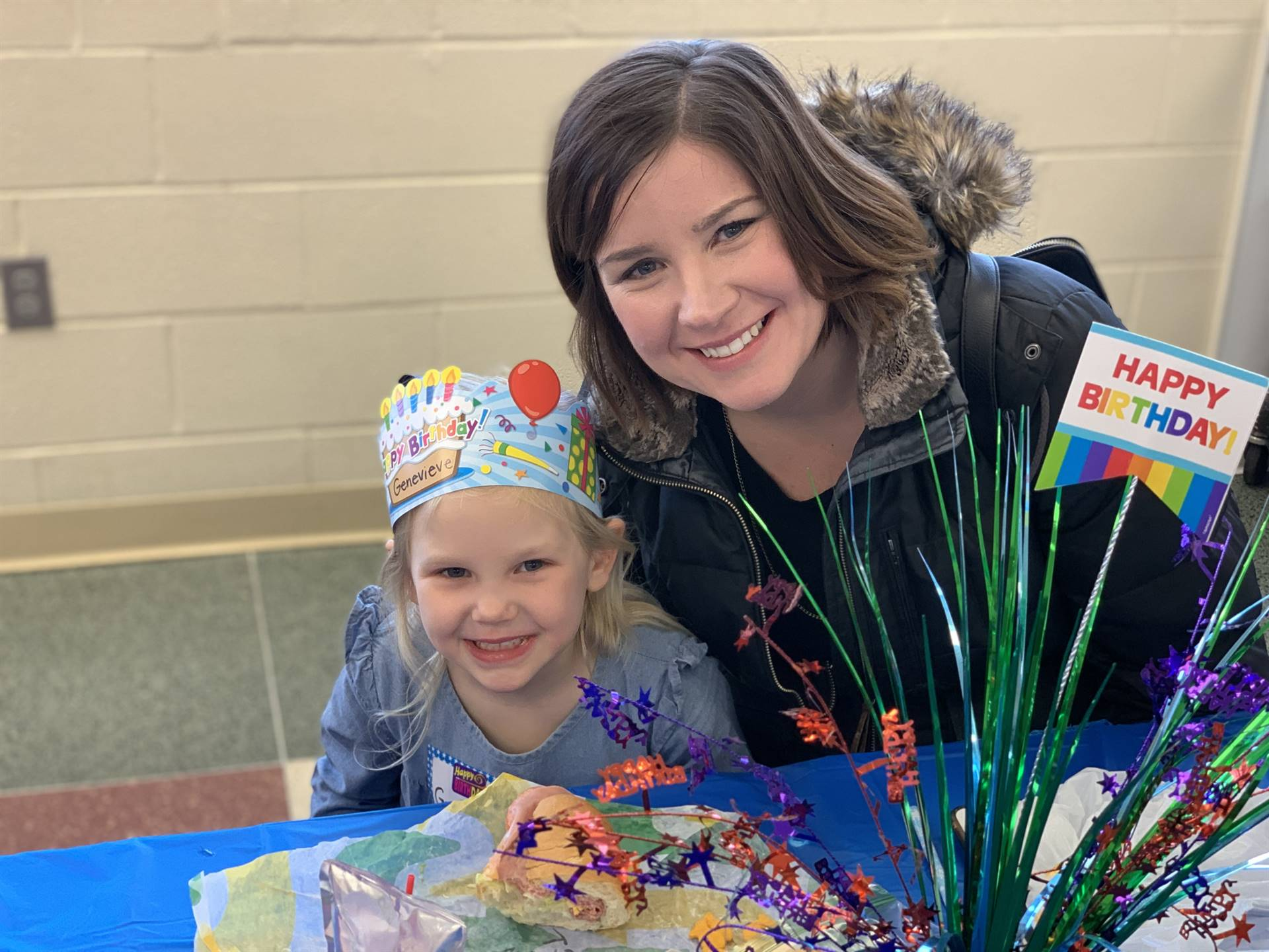 A mom and her daughter enjoy Birthday Lunch