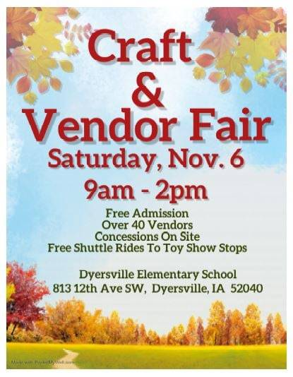 Vendor fair will be held at DES on  Nov. 6 from 9-2