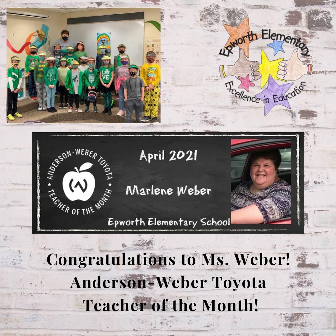 Ms. Weber Teacher of the Month