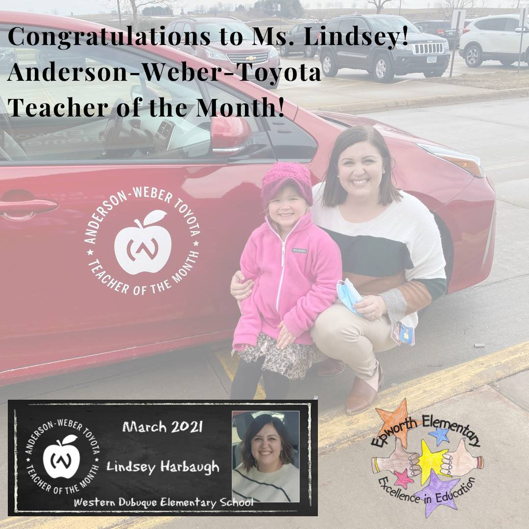 Ms. Lindsey Teacher of the Month