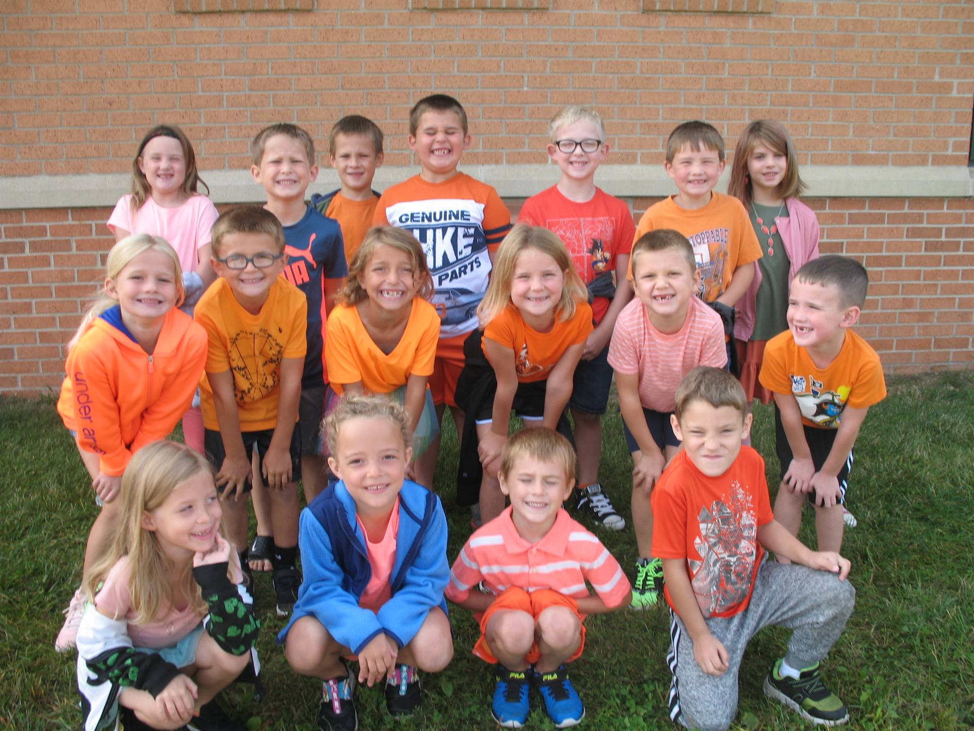 First Grade Class with no mask