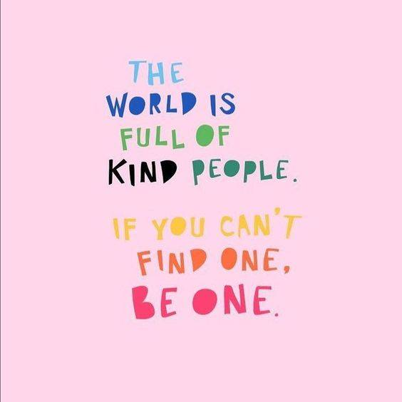 A world full of kind people poster