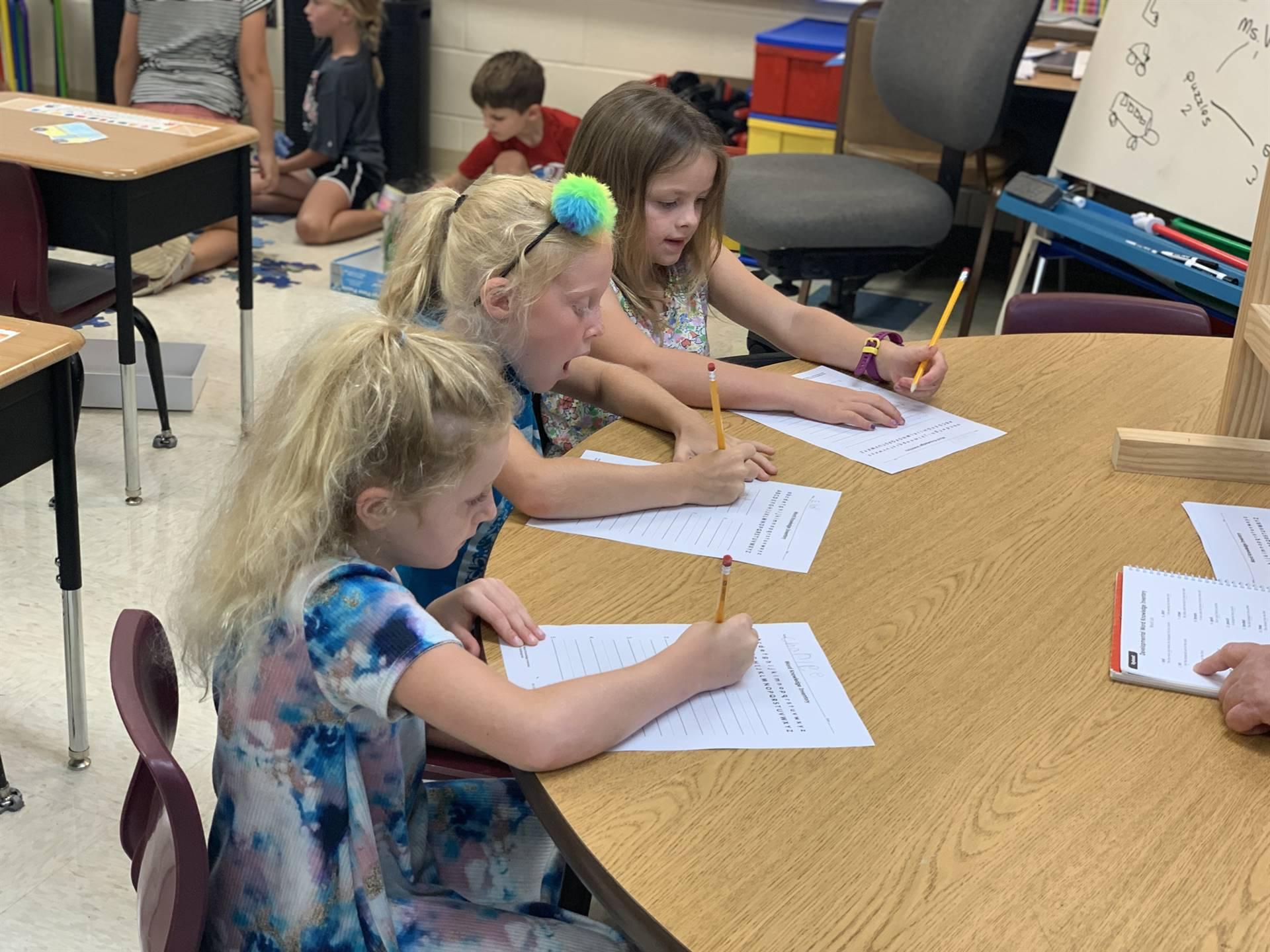 1st Graders writing