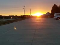 photo of sunrise at WD transportation office
